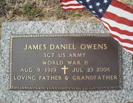OWENS (VETERAN WWII), JAMES DANIEL - Faulkner County, Arkansas   JAMES DANIEL OWENS (VETERAN WWII) - Arkansas Gravestone Photos