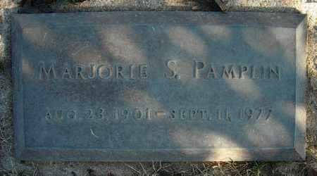 PAMPLIN, MARJORIE S. - Faulkner County, Arkansas   MARJORIE S. PAMPLIN - Arkansas Gravestone Photos