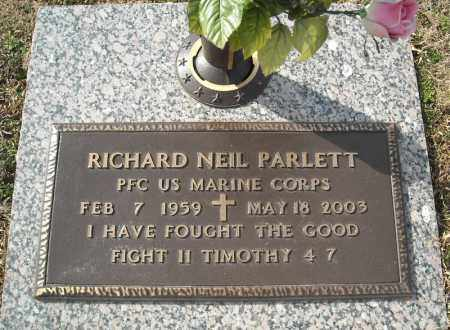 PARLETT (VETERAN), RICHARD NEIL - Faulkner County, Arkansas | RICHARD NEIL PARLETT (VETERAN) - Arkansas Gravestone Photos