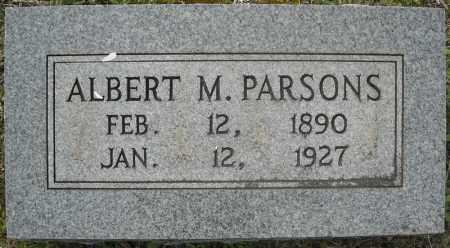 PARSONS, ALBERT MARION - Faulkner County, Arkansas   ALBERT MARION PARSONS - Arkansas Gravestone Photos