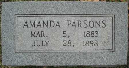 PARSONS, AMANDA REBECCA - Faulkner County, Arkansas | AMANDA REBECCA PARSONS - Arkansas Gravestone Photos