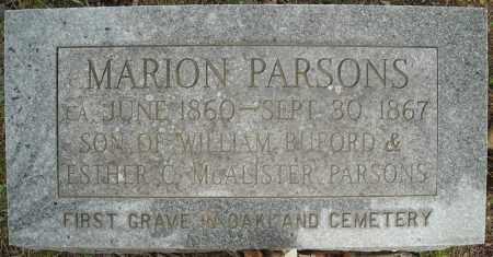 *PARSONS, MARION - Faulkner County, Arkansas | MARION *PARSONS - Arkansas Gravestone Photos