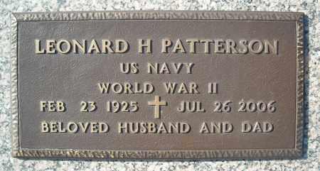 PATTERSON (VETERAN WWII), LEONARD H - Faulkner County, Arkansas   LEONARD H PATTERSON (VETERAN WWII) - Arkansas Gravestone Photos