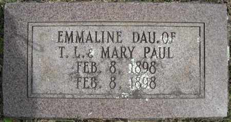 PAUL, EMMALINE - Faulkner County, Arkansas | EMMALINE PAUL - Arkansas Gravestone Photos