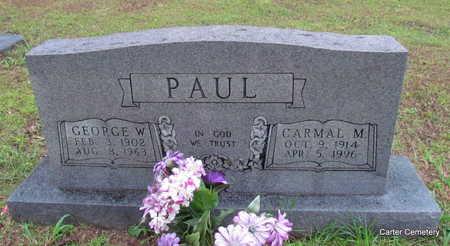 PAUL, CARMAL M. - Faulkner County, Arkansas   CARMAL M. PAUL - Arkansas Gravestone Photos
