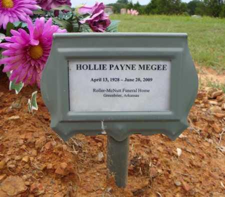 MEGEE, HOLLY PAYNE - Faulkner County, Arkansas | HOLLY PAYNE MEGEE - Arkansas Gravestone Photos
