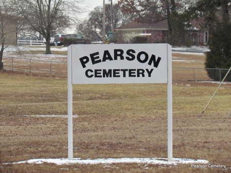 *PEARSON CEMETERY SIGN,  - Faulkner County, Arkansas |  *PEARSON CEMETERY SIGN - Arkansas Gravestone Photos