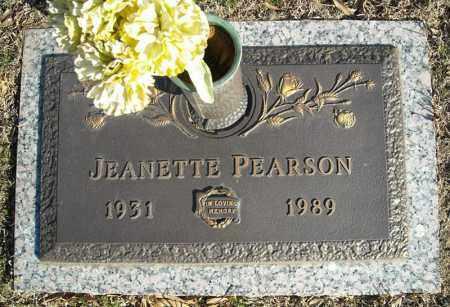 PEARSON, JEANETTE - Faulkner County, Arkansas | JEANETTE PEARSON - Arkansas Gravestone Photos