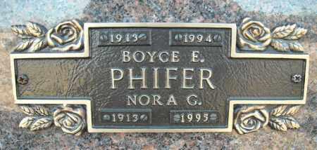 PHIFER, BOYCE E. - Faulkner County, Arkansas | BOYCE E. PHIFER - Arkansas Gravestone Photos