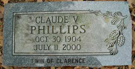 PHILLIPS, CLAUDE V. - Faulkner County, Arkansas | CLAUDE V. PHILLIPS - Arkansas Gravestone Photos