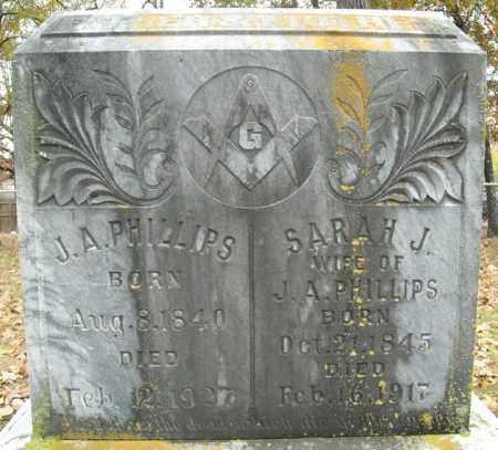 PHILLIPS, J.A. - Faulkner County, Arkansas   J.A. PHILLIPS - Arkansas Gravestone Photos