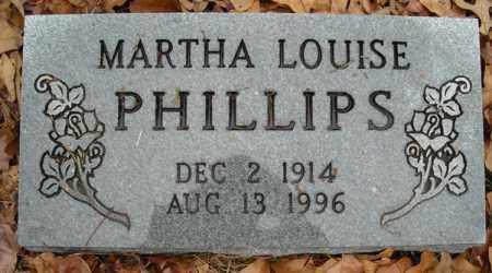 PHILLIPS, MARTHA LOUISE - Faulkner County, Arkansas | MARTHA LOUISE PHILLIPS - Arkansas Gravestone Photos