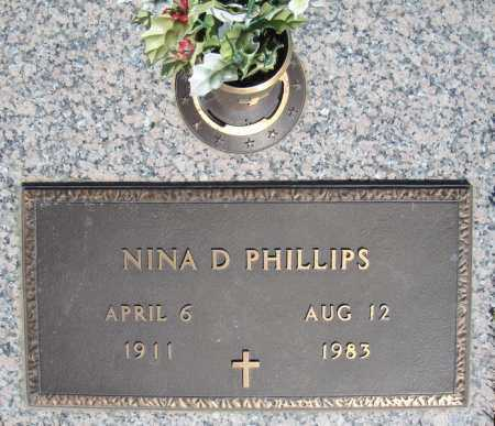 PHILLIPS, NINA D. - Faulkner County, Arkansas | NINA D. PHILLIPS - Arkansas Gravestone Photos