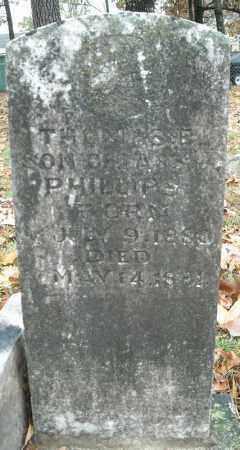 PHILLIPS, THOMAS E. - Faulkner County, Arkansas | THOMAS E. PHILLIPS - Arkansas Gravestone Photos