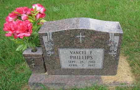 PHILLIPS, VANCEL E - Faulkner County, Arkansas | VANCEL E PHILLIPS - Arkansas Gravestone Photos