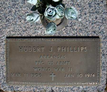 PHILLIPS (VETERAN WWII), HUBERT J - Faulkner County, Arkansas | HUBERT J PHILLIPS (VETERAN WWII) - Arkansas Gravestone Photos