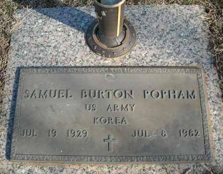 POPHAM (VETERAN KOR), SAMUEL BURTON - Faulkner County, Arkansas | SAMUEL BURTON POPHAM (VETERAN KOR) - Arkansas Gravestone Photos