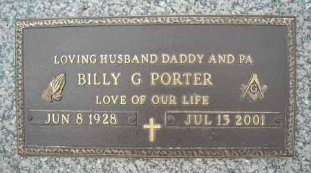 PORTER, BILLY G. - Faulkner County, Arkansas | BILLY G. PORTER - Arkansas Gravestone Photos