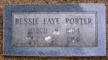 PORTER, BESSIE FAYE - Faulkner County, Arkansas   BESSIE FAYE PORTER - Arkansas Gravestone Photos