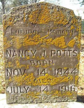 POTTS, NANCY J. - Faulkner County, Arkansas | NANCY J. POTTS - Arkansas Gravestone Photos