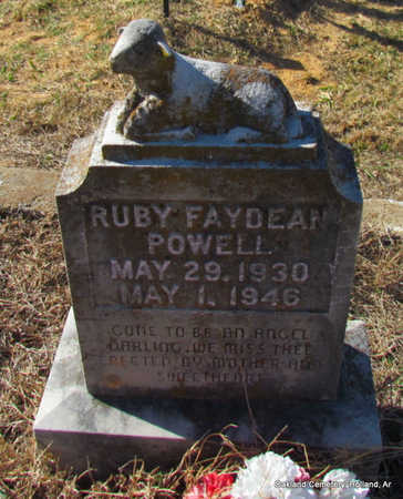 DEAN POWELL, RUBY FAY - Faulkner County, Arkansas | RUBY FAY DEAN POWELL - Arkansas Gravestone Photos