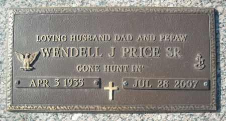 PRICE, SR (VETERAN), WENDELL J - Faulkner County, Arkansas   WENDELL J PRICE, SR (VETERAN) - Arkansas Gravestone Photos