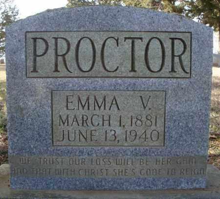 PROCTOR, EMMA V. - Faulkner County, Arkansas | EMMA V. PROCTOR - Arkansas Gravestone Photos