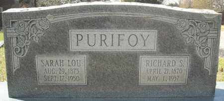 "PURIFOY, RICHARD SAMUEL "" DICK"" - Faulkner County, Arkansas | RICHARD SAMUEL "" DICK"" PURIFOY - Arkansas Gravestone Photos"