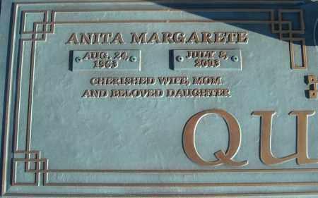 QUALLS, ANITA MARGARETE (CLOSE UP) - Faulkner County, Arkansas | ANITA MARGARETE (CLOSE UP) QUALLS - Arkansas Gravestone Photos