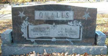 QUALLS, ORBUN F. - Faulkner County, Arkansas | ORBUN F. QUALLS - Arkansas Gravestone Photos
