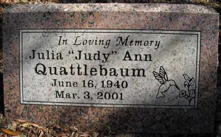 "QUATTLEBAUM, JULIA ""JUDY"" ANN - Faulkner County, Arkansas | JULIA ""JUDY"" ANN QUATTLEBAUM - Arkansas Gravestone Photos"