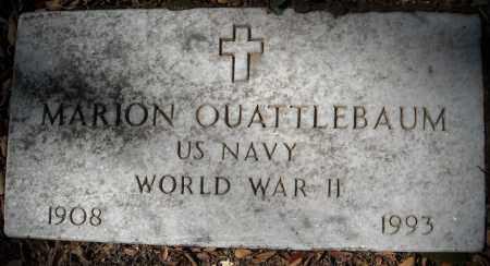 QUATTLEBAUM (VETERAN WWII), MARION - Faulkner County, Arkansas   MARION QUATTLEBAUM (VETERAN WWII) - Arkansas Gravestone Photos