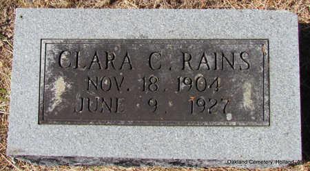 RAINS, CLARA - Faulkner County, Arkansas | CLARA RAINS - Arkansas Gravestone Photos