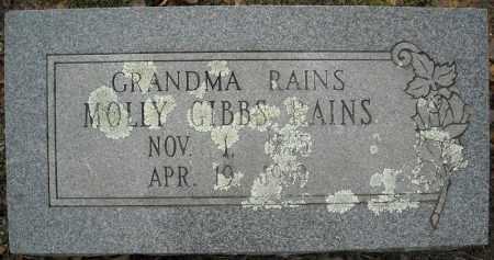 GIBBS RAINS, MOLLY - Faulkner County, Arkansas | MOLLY GIBBS RAINS - Arkansas Gravestone Photos