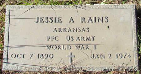 RAINS (VETERAN WWI), JESSIE A - Faulkner County, Arkansas   JESSIE A RAINS (VETERAN WWI) - Arkansas Gravestone Photos