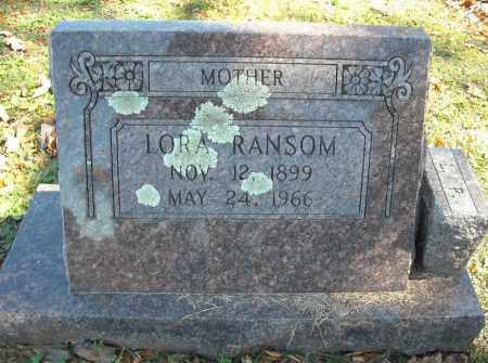RANSOM, LORA - Faulkner County, Arkansas | LORA RANSOM - Arkansas Gravestone Photos