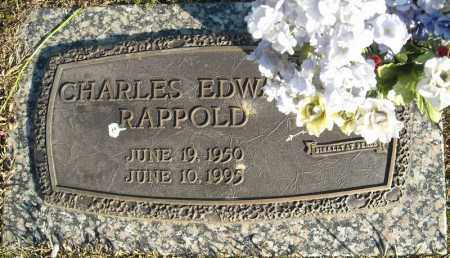 RAPPOLD, CHARLES EDWARD - Faulkner County, Arkansas | CHARLES EDWARD RAPPOLD - Arkansas Gravestone Photos