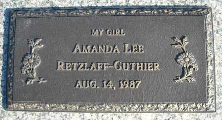 RETZLAFF-GUTHIER, AMANDA LEE - Faulkner County, Arkansas | AMANDA LEE RETZLAFF-GUTHIER - Arkansas Gravestone Photos