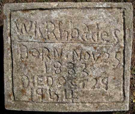 RHOADES, W.K. - Faulkner County, Arkansas   W.K. RHOADES - Arkansas Gravestone Photos
