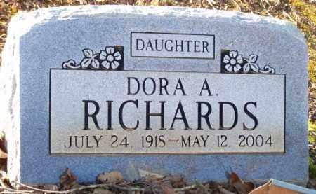 RICHARDS, DORA A. - Faulkner County, Arkansas   DORA A. RICHARDS - Arkansas Gravestone Photos