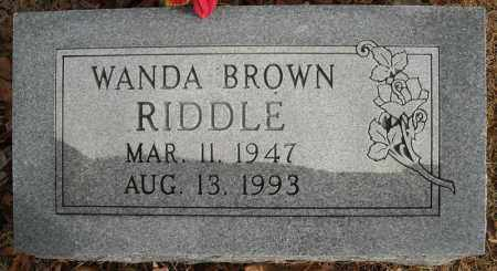 BROWN RIDDLE, WANDA - Faulkner County, Arkansas | WANDA BROWN RIDDLE - Arkansas Gravestone Photos