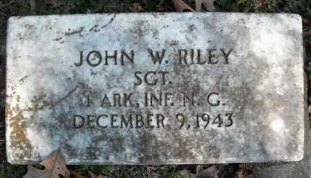 RILEY  (VETERAN), JOHN W. - Faulkner County, Arkansas   JOHN W. RILEY  (VETERAN) - Arkansas Gravestone Photos