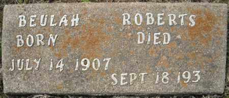 ROBERTS, BEULAH - Faulkner County, Arkansas   BEULAH ROBERTS - Arkansas Gravestone Photos