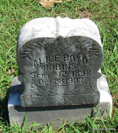 ROBINS, ALICE BOYD - Faulkner County, Arkansas | ALICE BOYD ROBINS - Arkansas Gravestone Photos