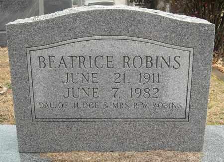 ROBINS, BEATRICE - Faulkner County, Arkansas   BEATRICE ROBINS - Arkansas Gravestone Photos