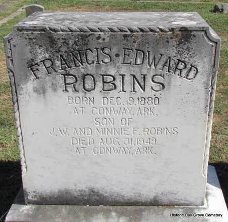ROBINS, FRANCIS EDWARD - Faulkner County, Arkansas | FRANCIS EDWARD ROBINS - Arkansas Gravestone Photos