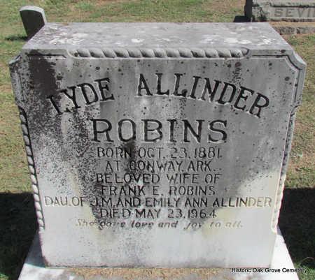ROBINS, LYDE - Faulkner County, Arkansas   LYDE ROBINS - Arkansas Gravestone Photos