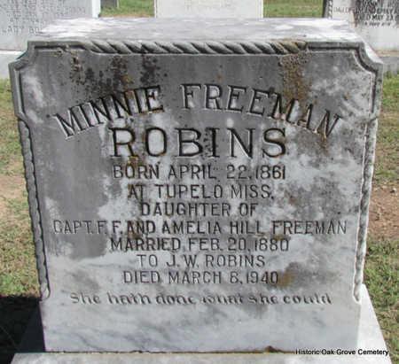 FREEMAN ROBINS, MINNIE - Faulkner County, Arkansas | MINNIE FREEMAN ROBINS - Arkansas Gravestone Photos