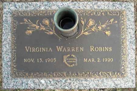 ROBINS, VIRGINIA - Faulkner County, Arkansas   VIRGINIA ROBINS - Arkansas Gravestone Photos