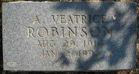 ROBINSON, A. VEATRICE - Faulkner County, Arkansas | A. VEATRICE ROBINSON - Arkansas Gravestone Photos
